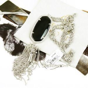 Kendra Scott Rayne necklace black silver